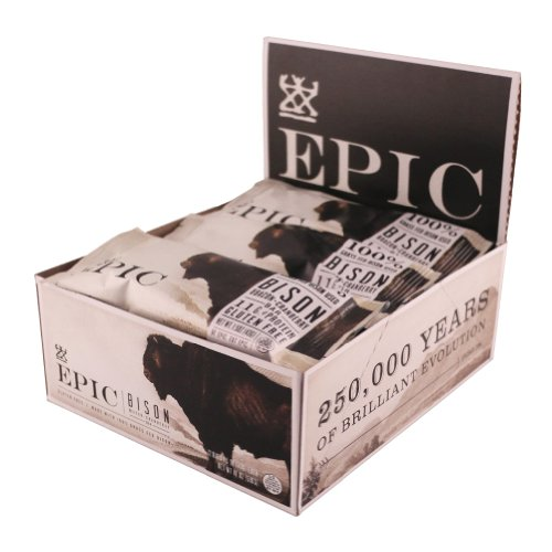 EPIC Grass Fed Meat Bar Bison Bacon Cranberry - 12 Pack