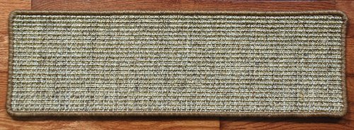 Sisal Stair Treads - Desert - Set of 13 - Double-Sided Tape Included