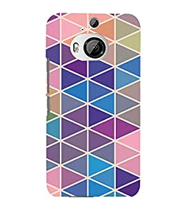 printtech Triangle Pattern Back Case Cover for HTC One M9+::HTC One M9 Plus