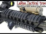 LaRue Tactical インデックスクリップ&ハンドストップSETレプリカ BKカラー