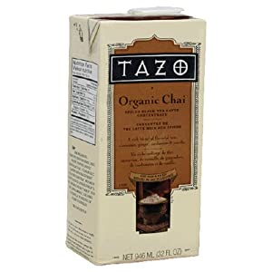 Tazo Organic Chai Spiced Black Tea Latte Concentrate 32-ounce Containers Pack Of 6 from Tazo