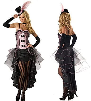 7d37a0cde3d Get your saloon girl outfit today. Get Pink Burlesque Moulin Rouge Fancy  Dress Can ...