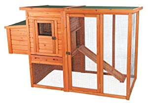 Trixie 55961 Pet Products Chicken Coop with Outdoor Run, Brown