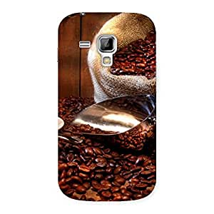 Delighted Coffee Beans Brown Back Case Cover for Galaxy S Duos