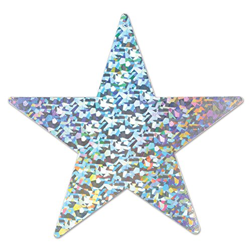 Prismatic Foil Star Cutout (silver) Party Accessory  (1 count)