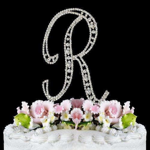 Vintage ~ Swarovski Crystal Wedding Cake Topper ~ Letter R