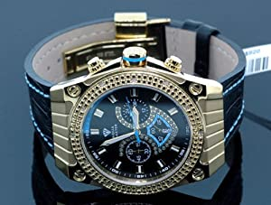 Aqua Master Mens Yellow Gold Diamond Watch