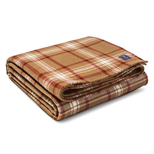 Faribault Woolen Mill Company Plaid Wool Blanket Chestnut