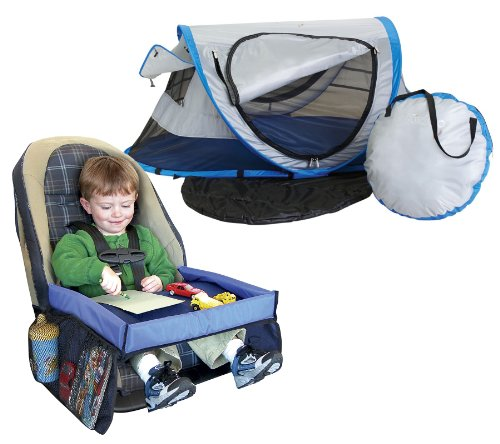 Kidco Peapod Plus Travel Bed Twilight With Snack Play Travel Tray