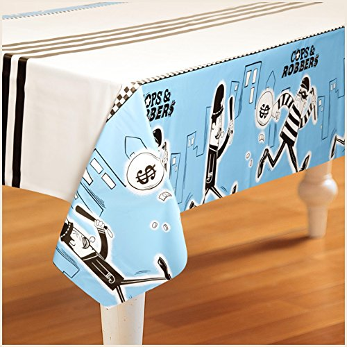 Birthday Express - Cops and Robbers Party Plastic Tablecover