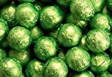 Kiwi Green Foiled Milk Chocolate Balls 1LB Bag