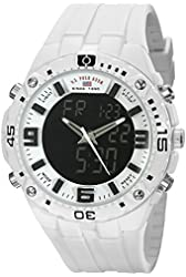 U.S. Polo Assn. Sport Men's US9280 White Stainless Steel Watch With White Rubber Band