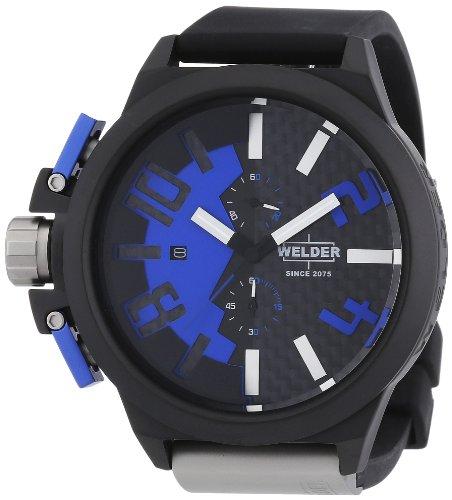 Welder - 2503 K35-Unisex Watch Analogue Quartz Chronograph Black Rubber Strap