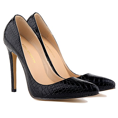 loslandifen womens shoes closed toe high heels s