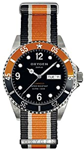 OXYGEN Snooker 40 unisex quartz Watch with black Dial analogue Display and multicolour nylon Strap EX-D-SNK-40-NN-BLIVOR