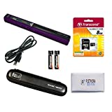 VuPoint ST415 Magic Wand Portable Scanner, Protective Case, 8GB SD Card, OCR Software, JPG/PDF, 900DPI, Color/Mono, for Document/Photo (Purple)