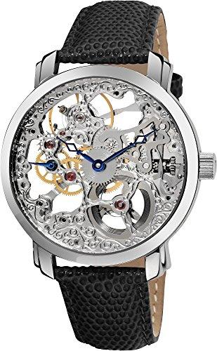 Akribos Xxiv Men'S Ak406Ss Bravura Davinci Mechanical Stainless Steel Watch front-967310