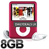 8gb Slim 1.8 LCD Mp3/Mp4 Music Video FM Radio Media Player PINK