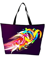 Snoogg Colorful Shapes Abstract Designer Waterproof Bag Made Of High Strength Nylon