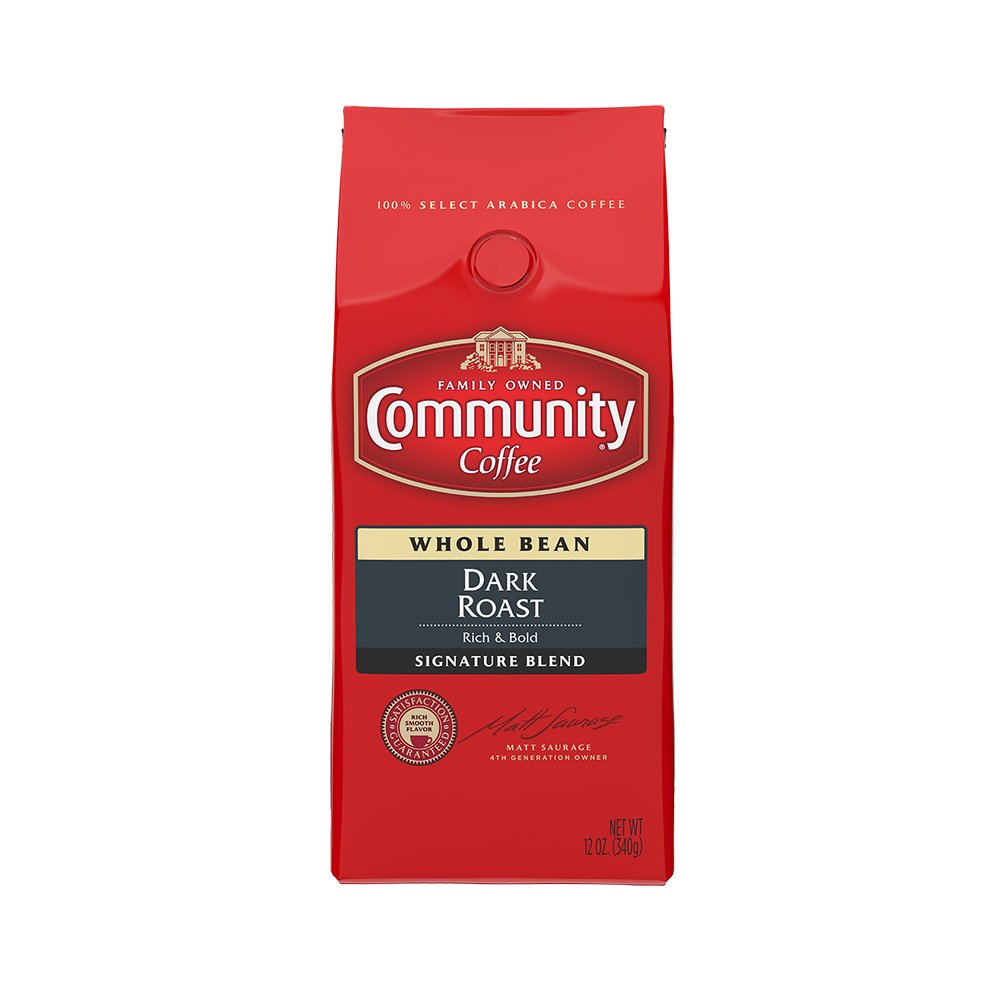 Community Coffee, Whole Bean Coffee, Signature Dark Roast