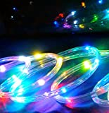 16 Feet Multi-Color Twinkle LED Flexible Rope Light (Rope Light Only, AC/DC Adapter not included), Color Changing, For Indoor / Outdoor Lighting, Home, Garden, Patio, Christmas, New Year, Easter, Wedding, Birthday, Party, Event