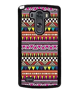 Printvisa Ethnic Multicoloured Pattern Back Case Cover for LG G3::LG G3 D855