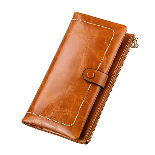 gogou-genuine-leather-ladies-wallets-cool-zippered-clutch-purse-hnadbag-browm