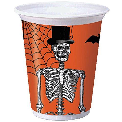 Halloween Spooky Scenes 16 oz Plastic Cups 8 Per Pack - 1