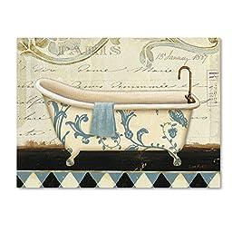Trademark Fine Art Marche de Fleurs Bath I Wall Decor by Lisa Audit, 18\