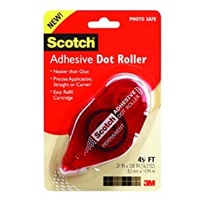 Scotch Adhesive Dot Roller, 0.33 x 49 Feet (6055)
