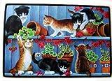 ドアマット 猫柄仔猫6匹