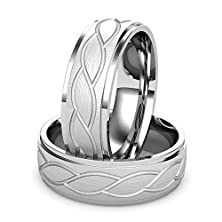 buy Argentium Silver Men'S Engraved Wedding Band Featuring A Curved Leaf Design. Argentium'S 960 Grade Set New Purity Standards For Silver. Argentium Is Always Purer Than Traditional Sterling Silver. Argentium Silver Is Brighter Than Platinum White Gold And T