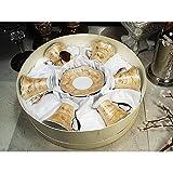 D'Lusso Designs Twelve-piece Gold Espresso Set