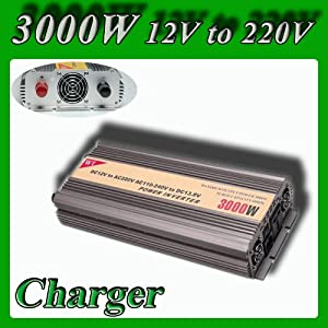 Meind power inverter 3000W DC 12V to AC 220V with battery charge function Universal AC socket available in USA