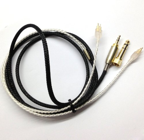 1.5M Silver Plated Diy Audio Upgrade Cable For Sennheiser Hd650 Hd600 Hd580 Headphones Headsets