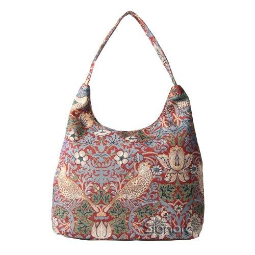 Borsa donna Signare alla moda a spalla borsa hobo William Morris Ladro di fragole rosse