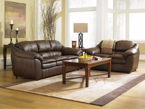 Buy Low Price AtHomeMart Brown Sofa and Loveseat Set (ASLY2860338_2860335_2PC)