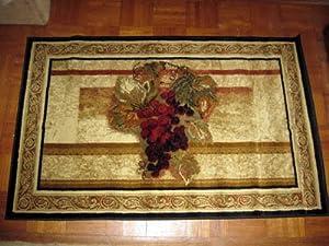Amazon Com Wine Grapes Plush Area Throw Rug Carpet Large