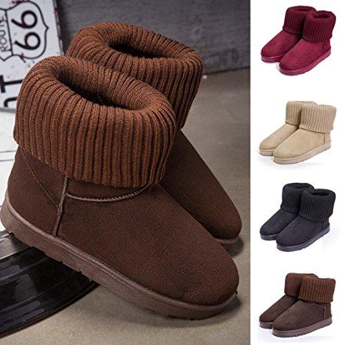 Kolylong 2016 Hiver Bottes de neige tricotage Laine bordage bottes de coton Chaussures