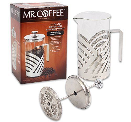 Mr. Coffee Stainless Steel French Press Coffee Maker - 34 Fl. Oz Capacity (Mr Coffee 4 Cup Stainless compare prices)