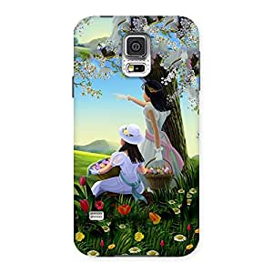 Ajay Enterprises Sisters Back Case Cover for Samsung Galaxy S5