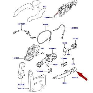 DOOR HANDLE CAP LAND ROVER LR2 LR3 /& LR4 FRONT RIGHT HAND OR BOTH REAR DOORS