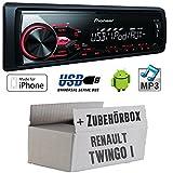 Renault-Twingo-1-Pioneer-MVH-180UI-MP3USB-Autoradio-Einbauset