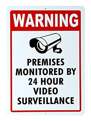 VIDEO SURVEILLANCE SIGN Property Protected by 24 Hour CCTV Camera