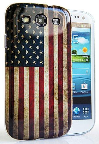CASEiLIKE ® - USA, American Flag retrò Vintage lucida IMD Snap-on custodia rigida back cover per Samsung Galaxy S3 / S 3 / S III / i9300 - con SCREEN PROTECTOR 1pz.
