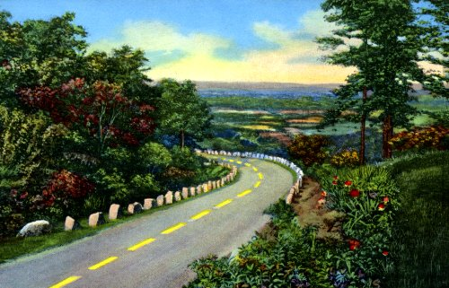 Highway from Chattanooga to Rock City - Fine-Art