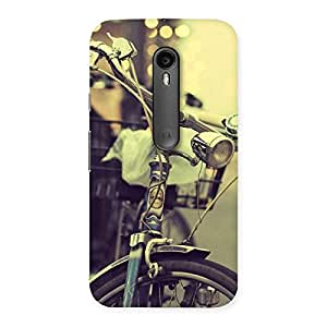 Cute Bycycle Vintage Back Case Cover for Moto G3