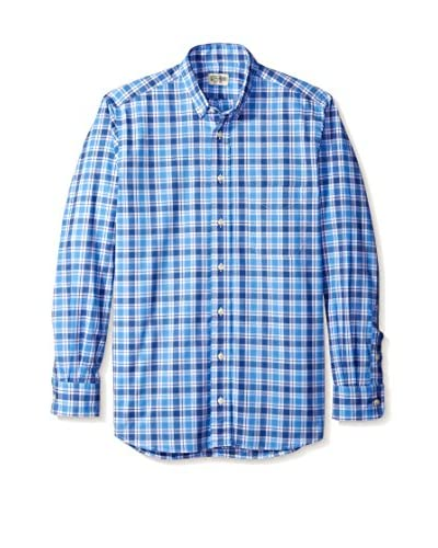 Gitman Blue Men's Multi Check Button Down Sport Shirt