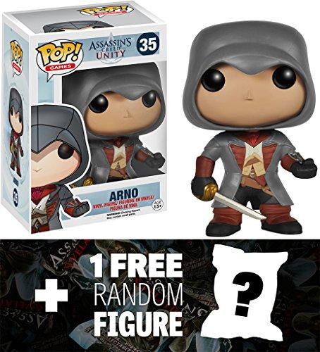 Arno: Funko POP! x Assassin's Creed Vinyl Figure + 1 FREE Official Assassin's Creed Mini-Trading Figure Bundle