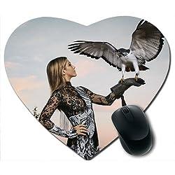 Awwsme A Girl With Eagle Heart Mousepad